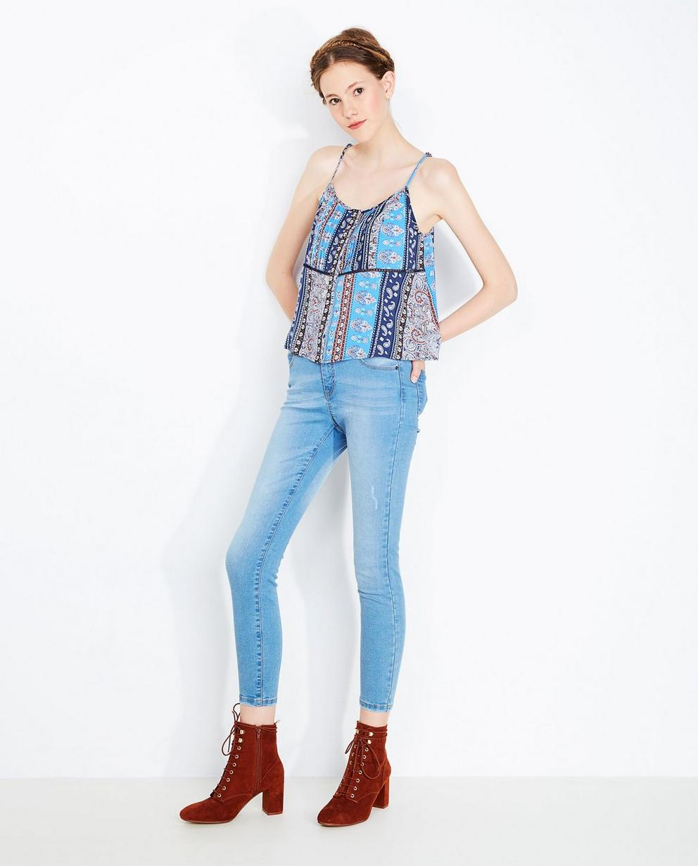 Lichtblauwe washed jeans  - met super skinny fit - Grogy
